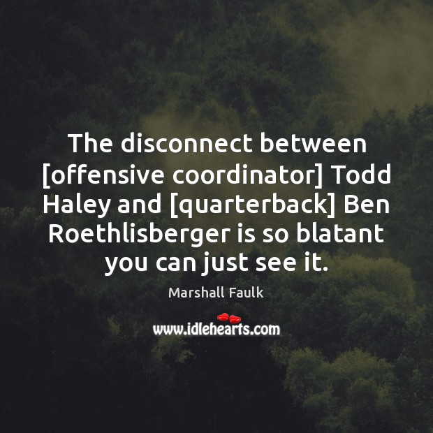Image, The disconnect between [offensive coordinator] Todd Haley and [quarterback] Ben Roethlisberger is