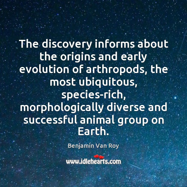 Image, The discovery informs about the origins and early evolution of arthropods, the