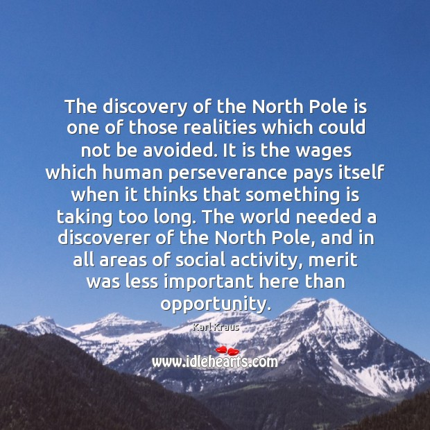 Image, The discovery of the north pole is one of those realities which could not be avoided.