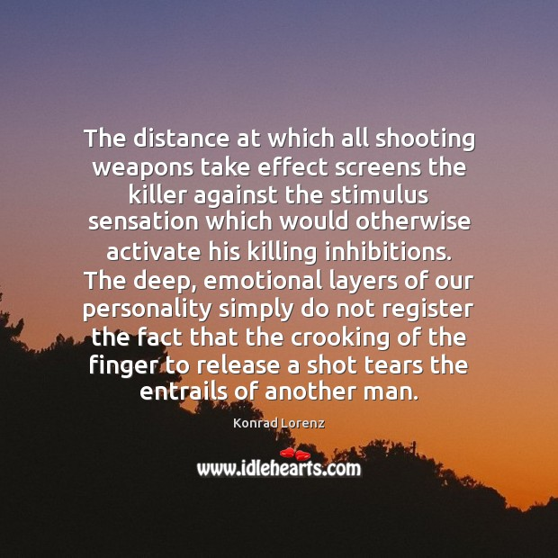 Image, The distance at which all shooting weapons take effect screens the killer