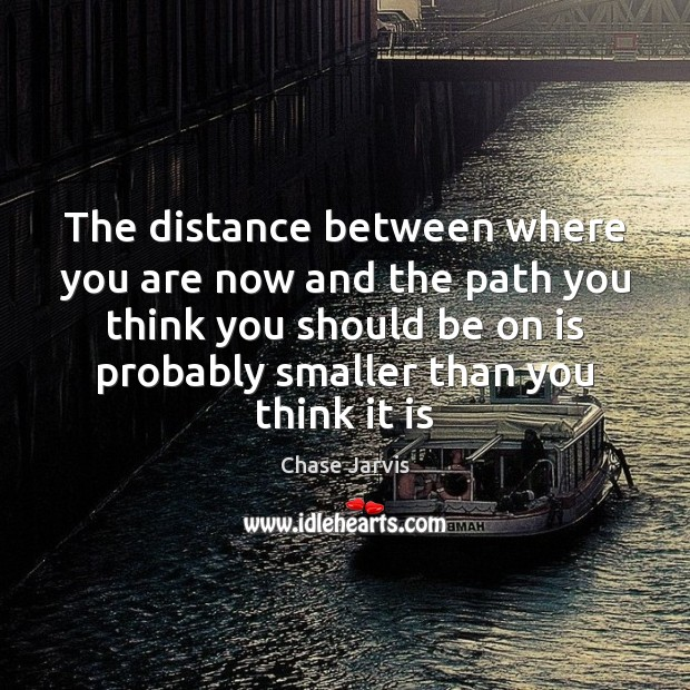 The distance between where you are now and the path you think Image