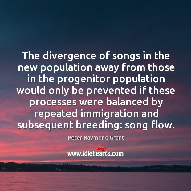Image, The divergence of songs in the new population away from those in the progenitor