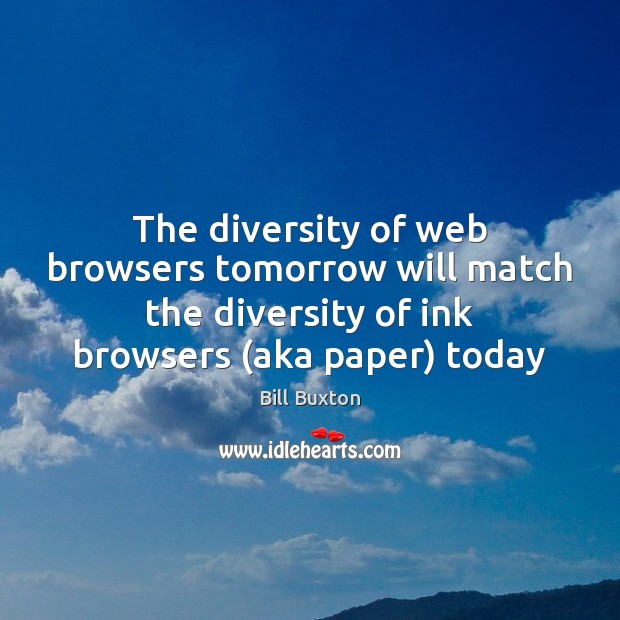 Image, The diversity of web browsers tomorrow will match the diversity of ink