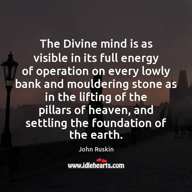 Image, The Divine mind is as visible in its full energy of operation