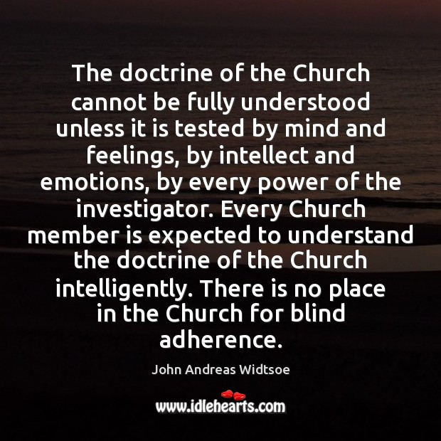 Image, The doctrine of the Church cannot be fully understood unless it is