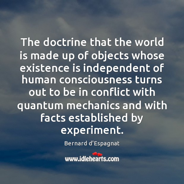 Image, The doctrine that the world is made up of objects whose existence