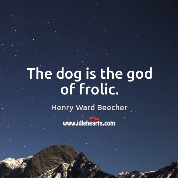 Image, The dog is the God of frolic.