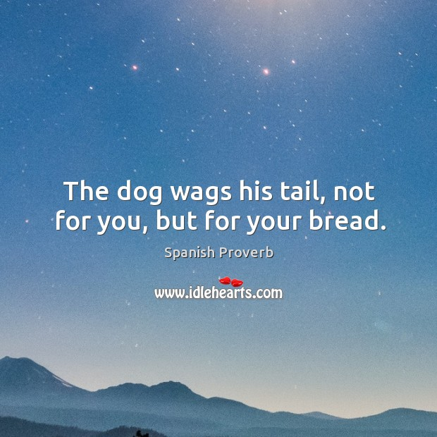 Image, The dog wags his tail, not for you, but for your bread.