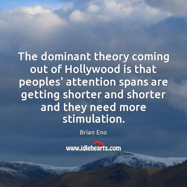 Image, The dominant theory coming out of Hollywood is that peoples' attention spans