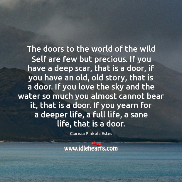 The doors to the world of the wild Self are few but Image