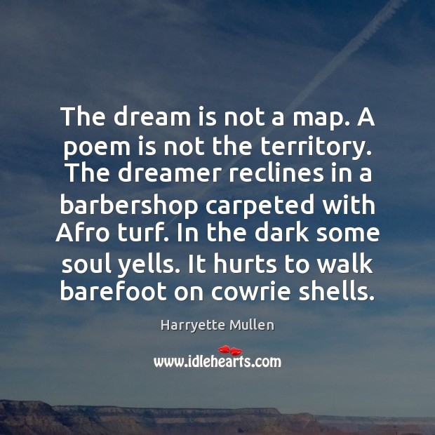 Image, The dream is not a map. A poem is not the territory.