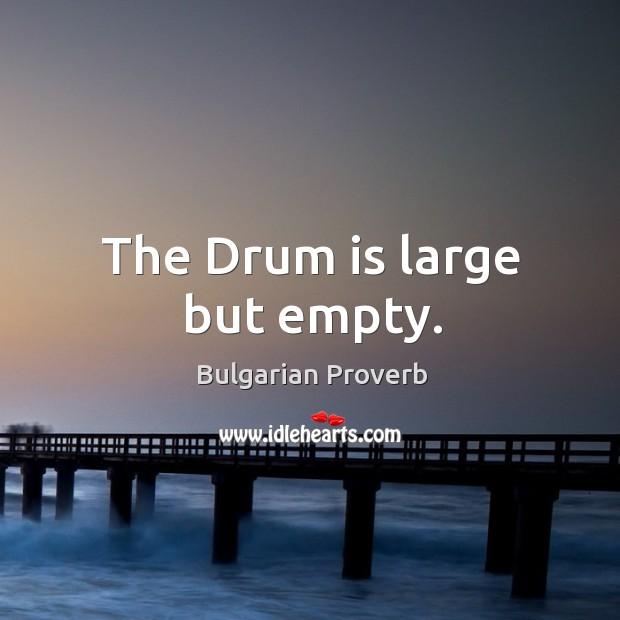 Image, The drum is large but empty.