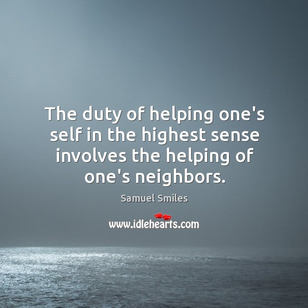 Image, The duty of helping one's self in the highest sense involves the