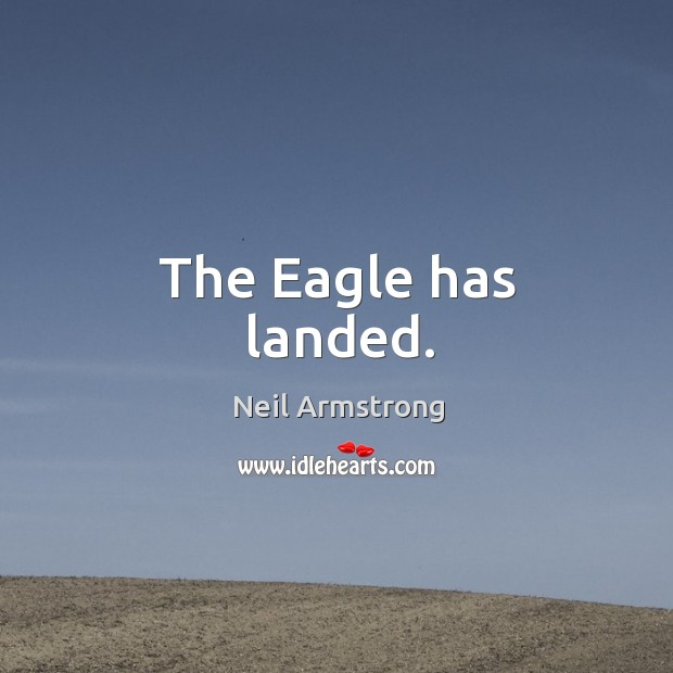 The eagle has landed. Image