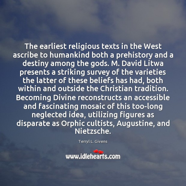 Image, The earliest religious texts in the West ascribe to humankind both a