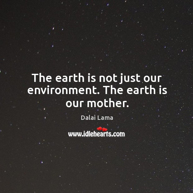 Image, The earth is not just our environment. The earth is our mother.