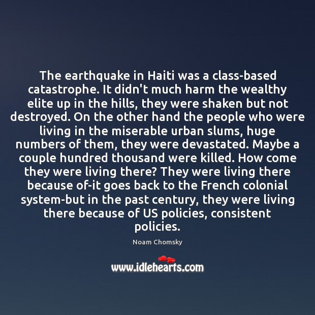 Image, The earthquake in Haiti was a class-based catastrophe. It didn't much harm
