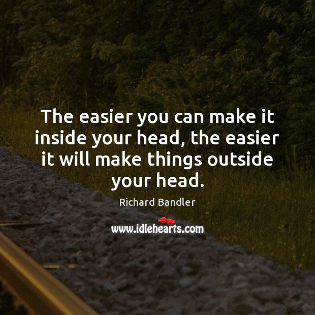The easier you can make it inside your head, the easier it Image