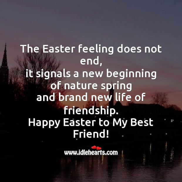 The easter feeling does not end Easter Messages Image