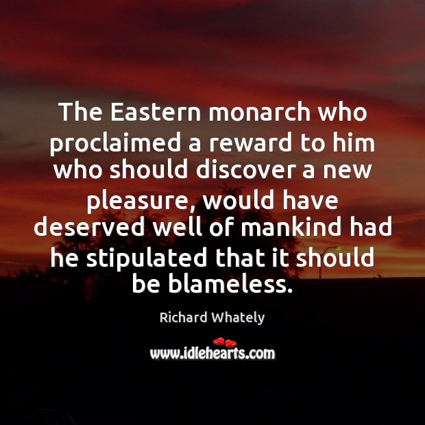 Image, The Eastern monarch who proclaimed a reward to him who should discover