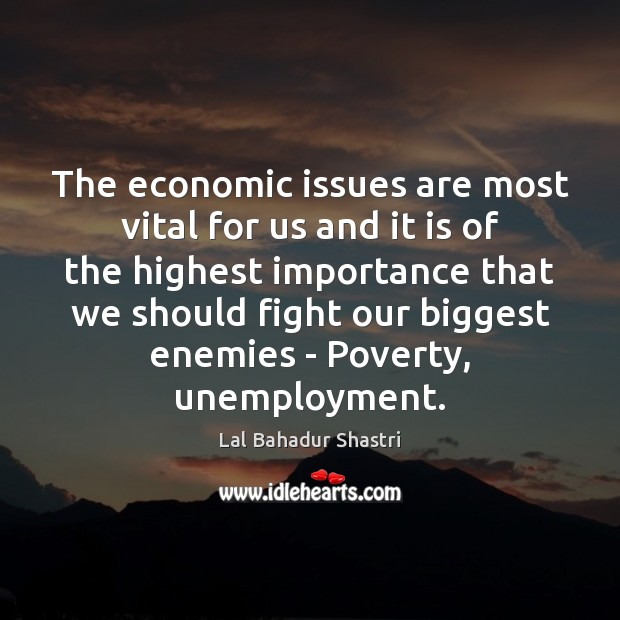 Image, The economic issues are most vital for us and it is of