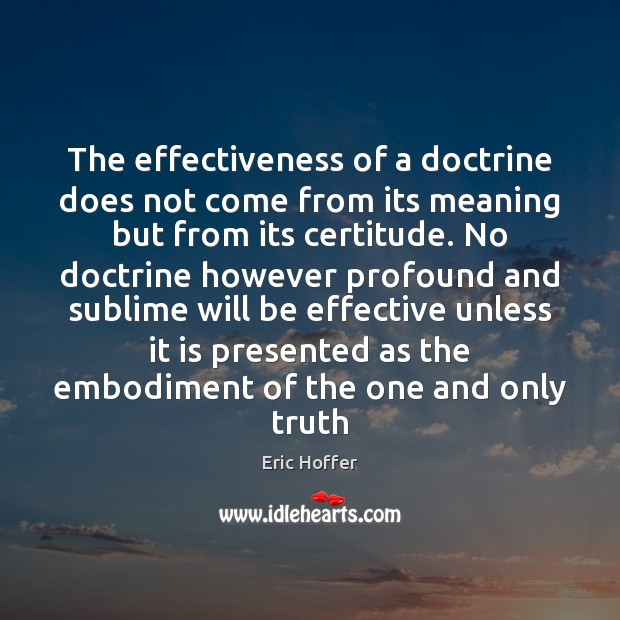 Image, The effectiveness of a doctrine does not come from its meaning but