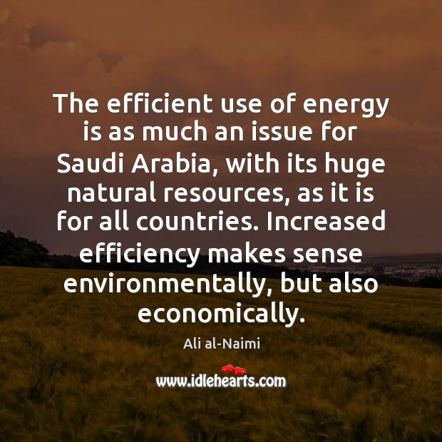 Image, The efficient use of energy is as much an issue for Saudi