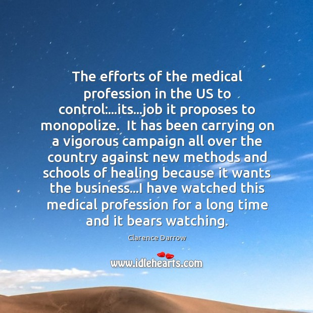 The efforts of the medical profession in the US to control:…its… Image