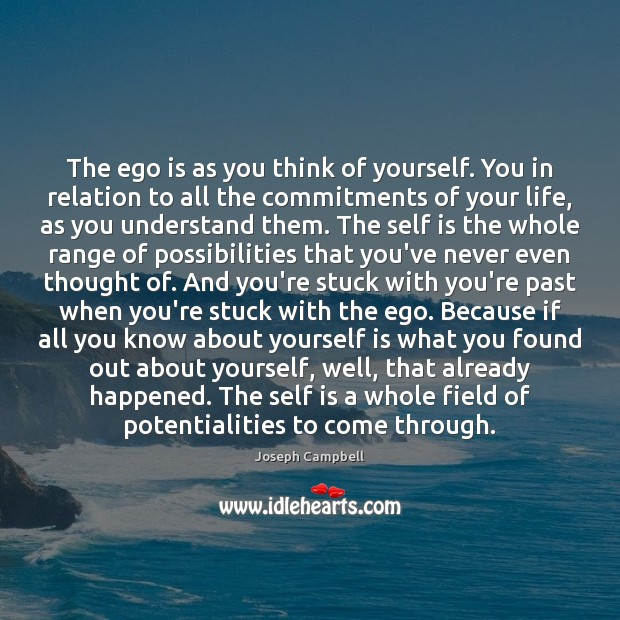 The ego is as you think of yourself. You in relation to Image
