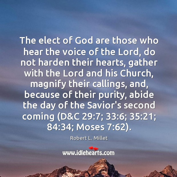 The elect of God are those who hear the voice of the Image