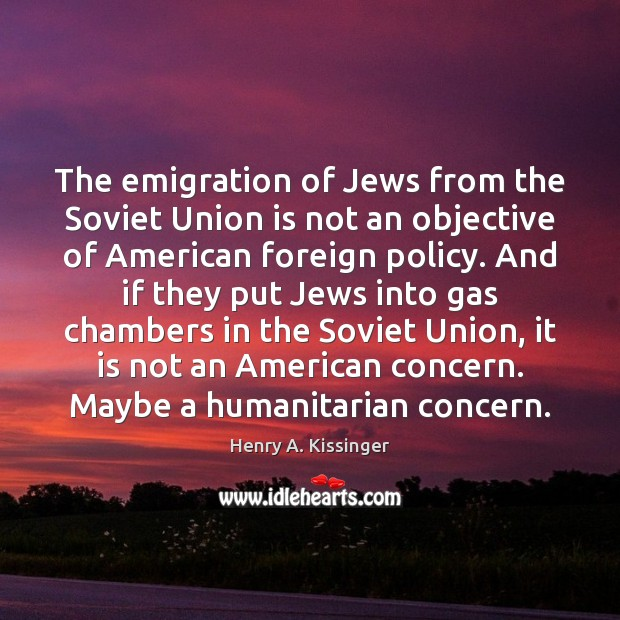 Image, The emigration of Jews from the Soviet Union is not an objective