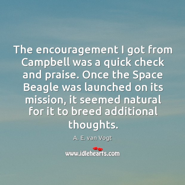 Image, The encouragement I got from campbell was a quick check and praise.