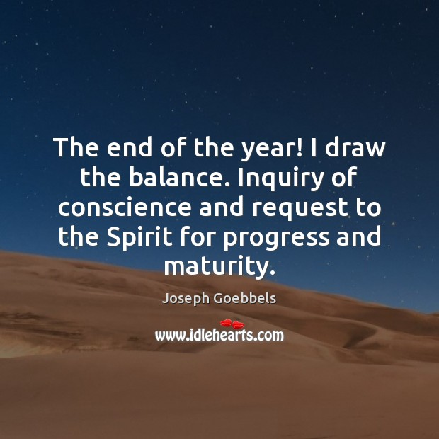 The end of the year! I draw the balance. Inquiry of conscience Image