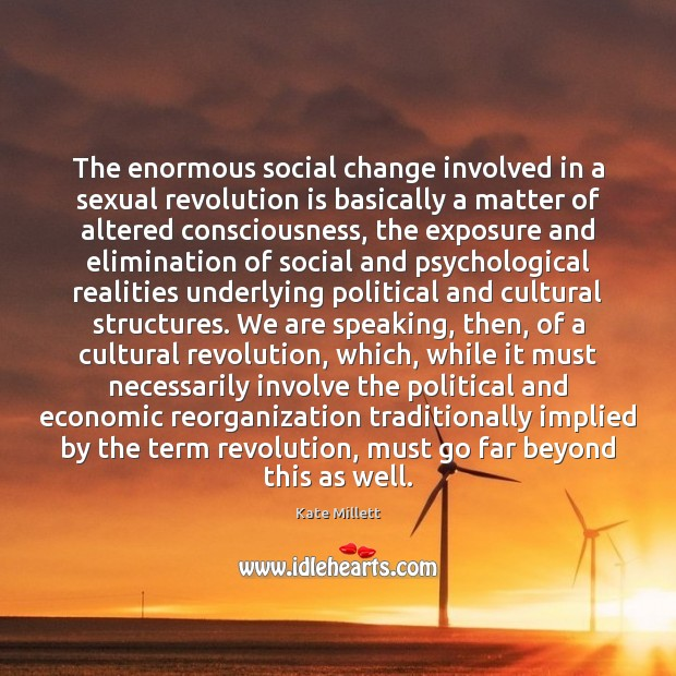 Image, The enormous social change involved in a sexual revolution is basically a
