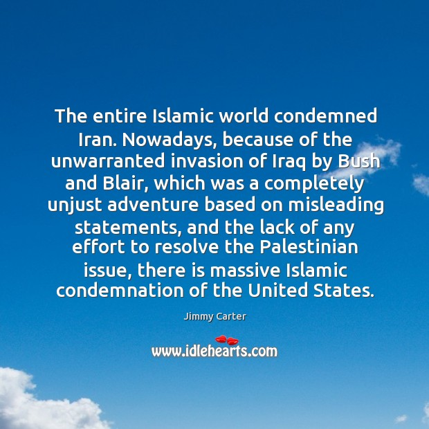 The entire islamic world condemned iran. Nowadays Image