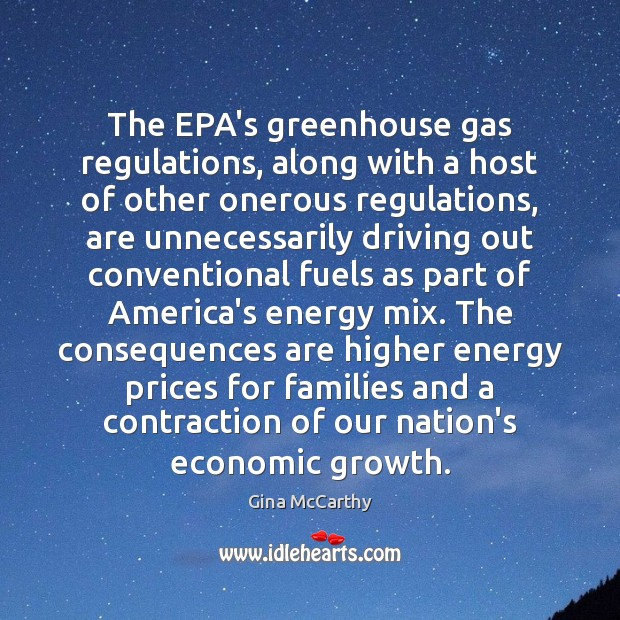 Image, The EPA's greenhouse gas regulations, along with a host of other onerous
