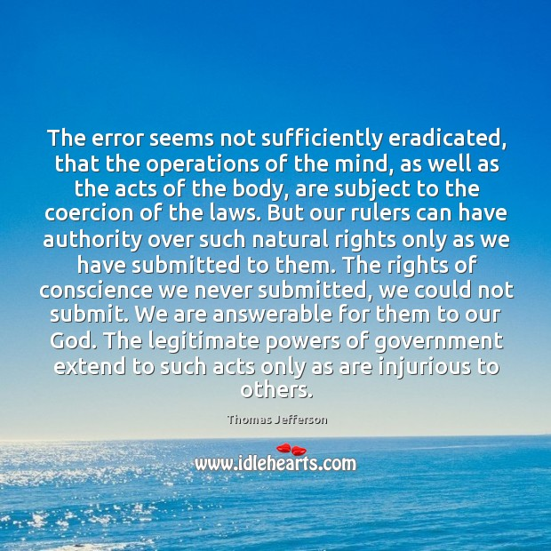 The error seems not sufficiently eradicated, that the operations of the mind, Image