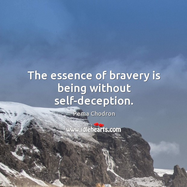 Image, The essence of bravery is being without self-deception.