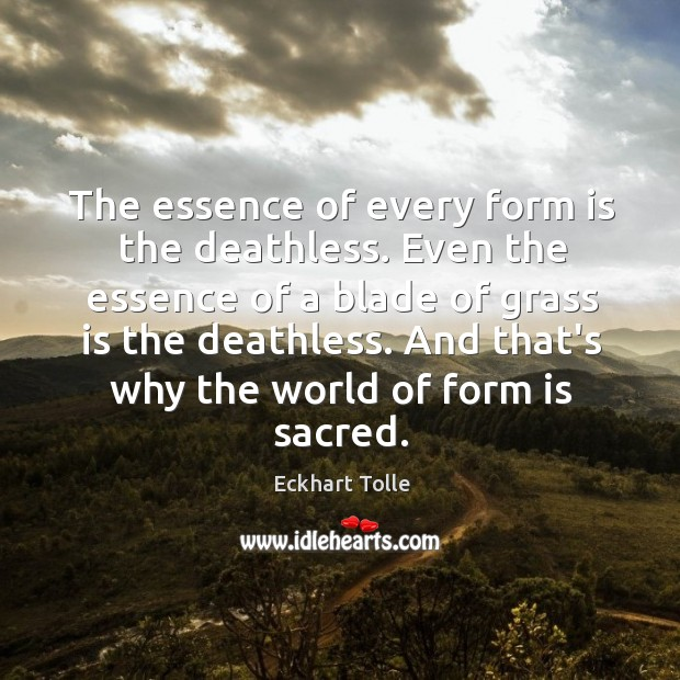 Image, The essence of every form is the deathless. Even the essence of