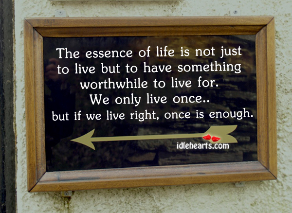 The essence of life is not just to Image