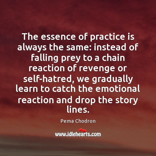 Image, The essence of practice is always the same: instead of falling prey