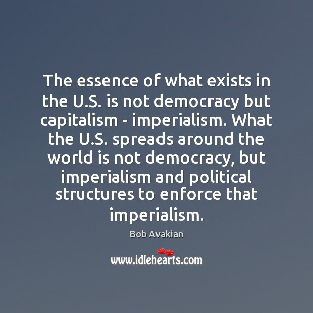 Image, The essence of what exists in the U.S. is not democracy