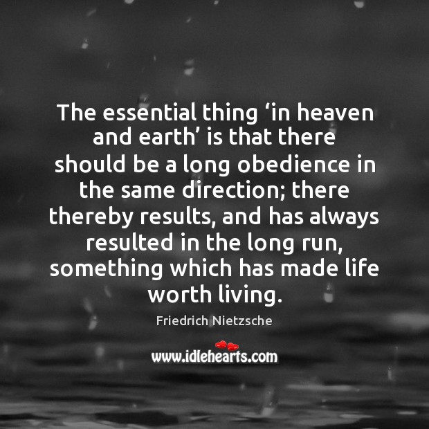 Image, The essential thing 'in heaven and earth' is that there should be