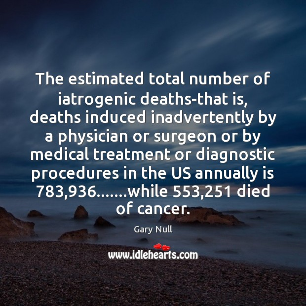 Image, The estimated total number of iatrogenic deaths-that is, deaths induced inadvertently by