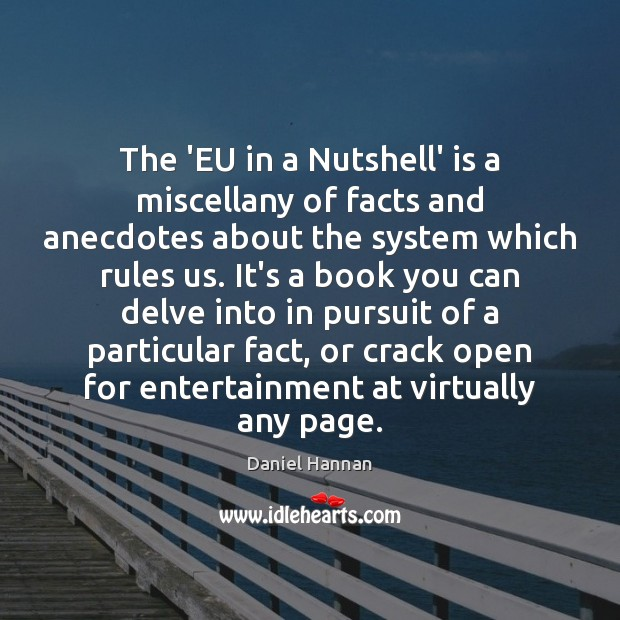 The 'EU in a Nutshell' is a miscellany of facts and anecdotes Image