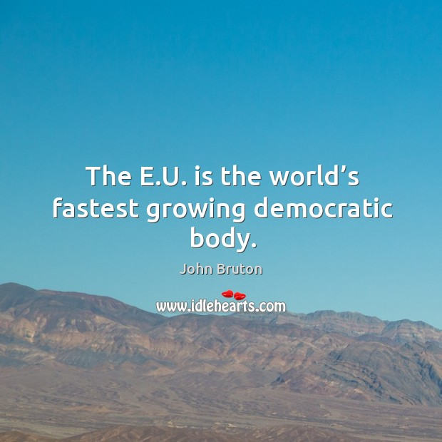 Image, The e.u. Is the world's fastest growing democratic body.