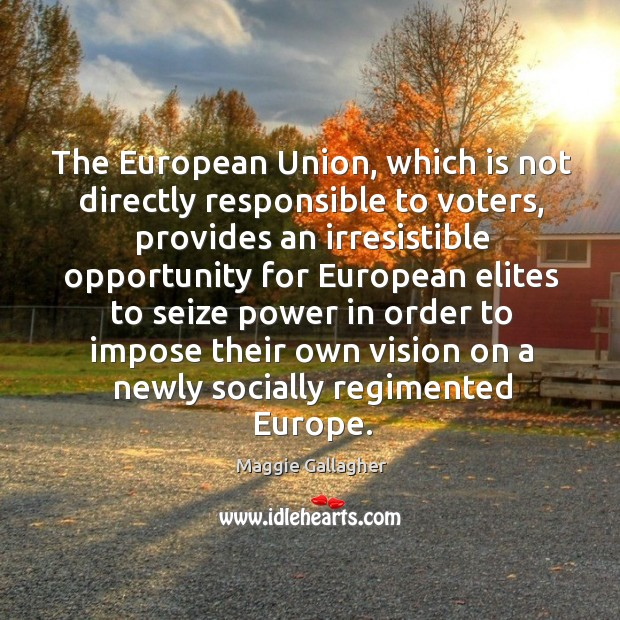 Image, The european union, which is not directly responsible to voters
