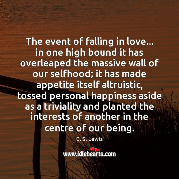 Image, The event of falling in love… in one high bound it has