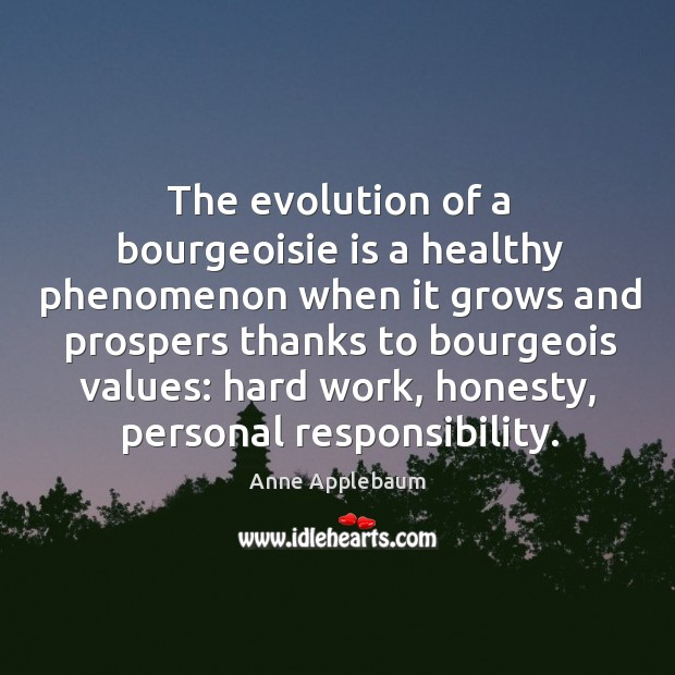 The evolution of a bourgeoisie is a healthy phenomenon when it grows Image