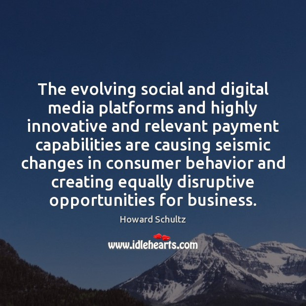 The evolving social and digital media platforms and highly innovative and relevant Image